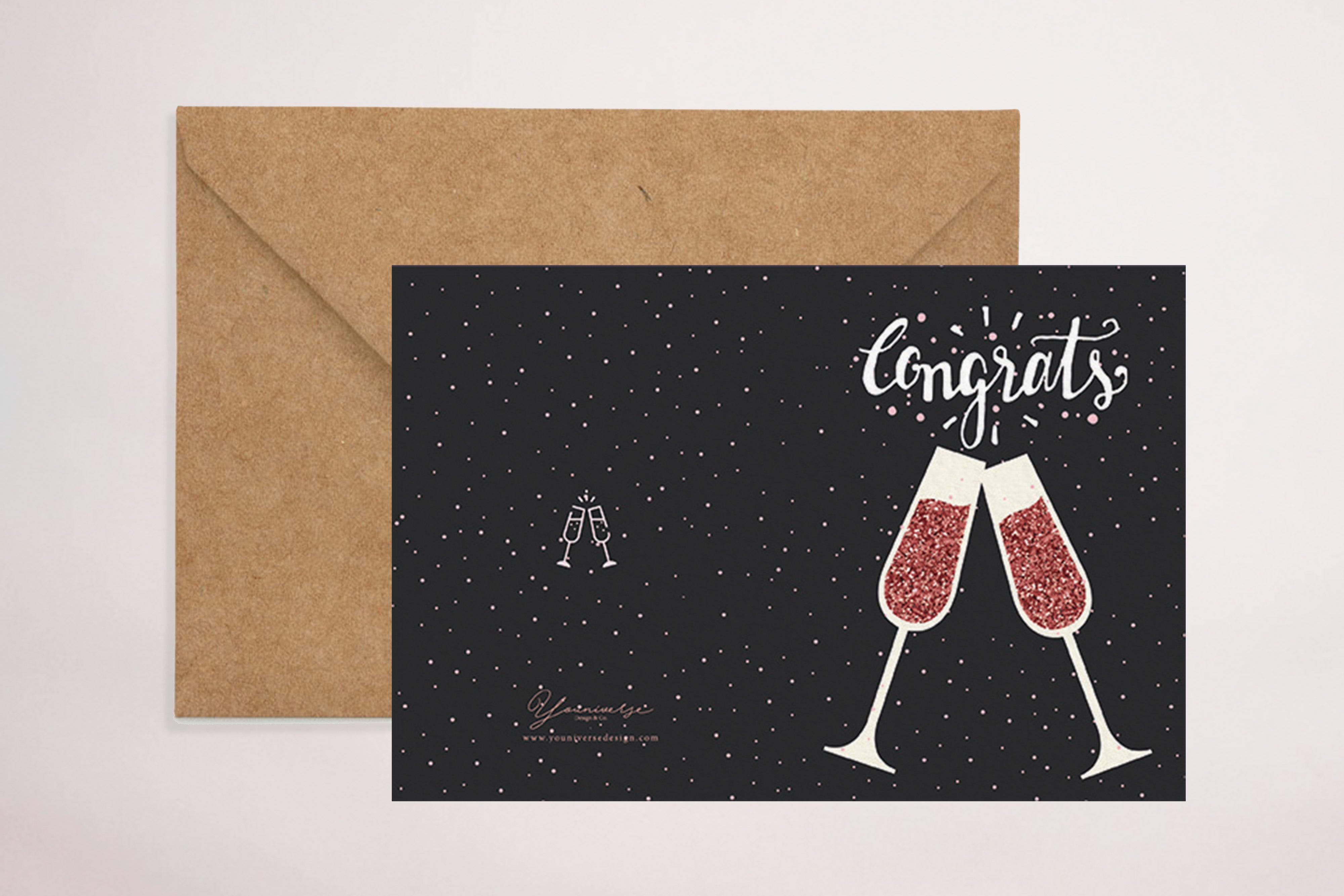 Congratulations - Cheers (Greeting Card)
