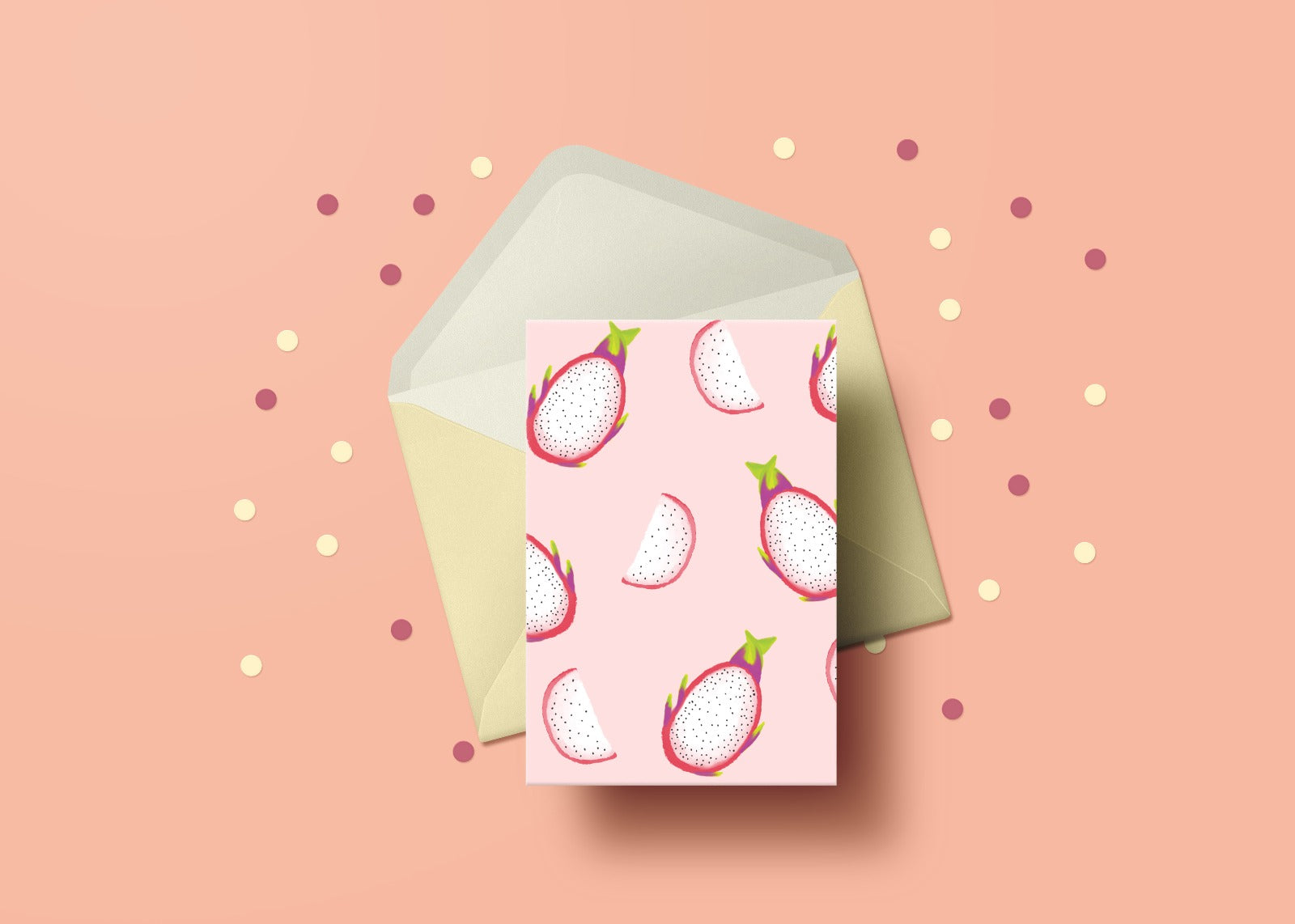Dragonfruit Pattern (Greeting Card)