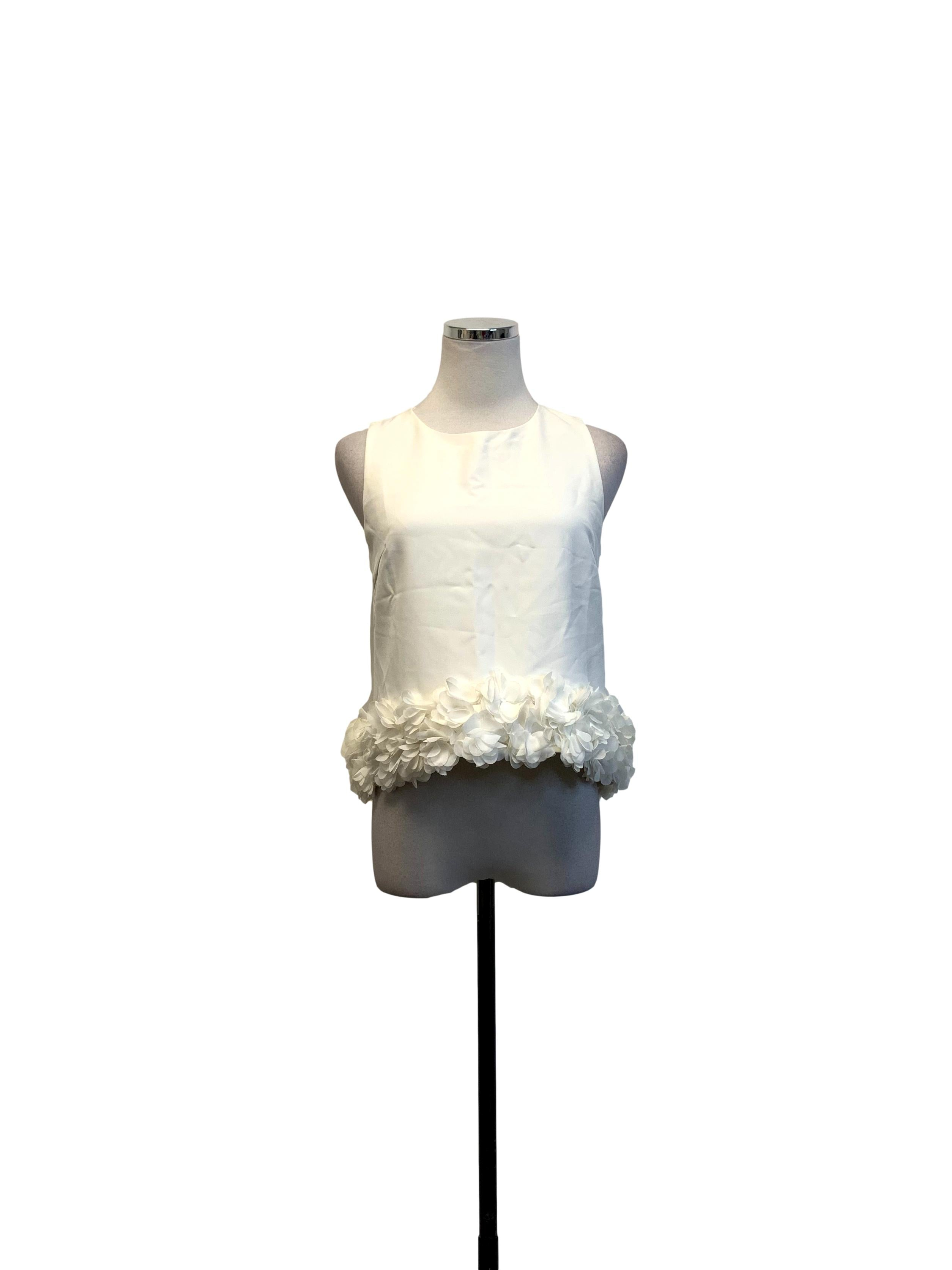 White Petal Design Top