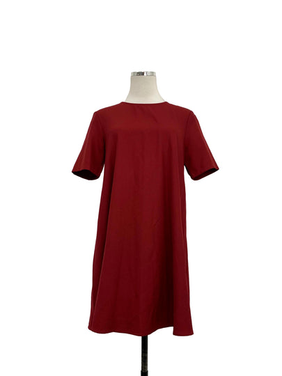 Maroon Red T-Shirt Dress