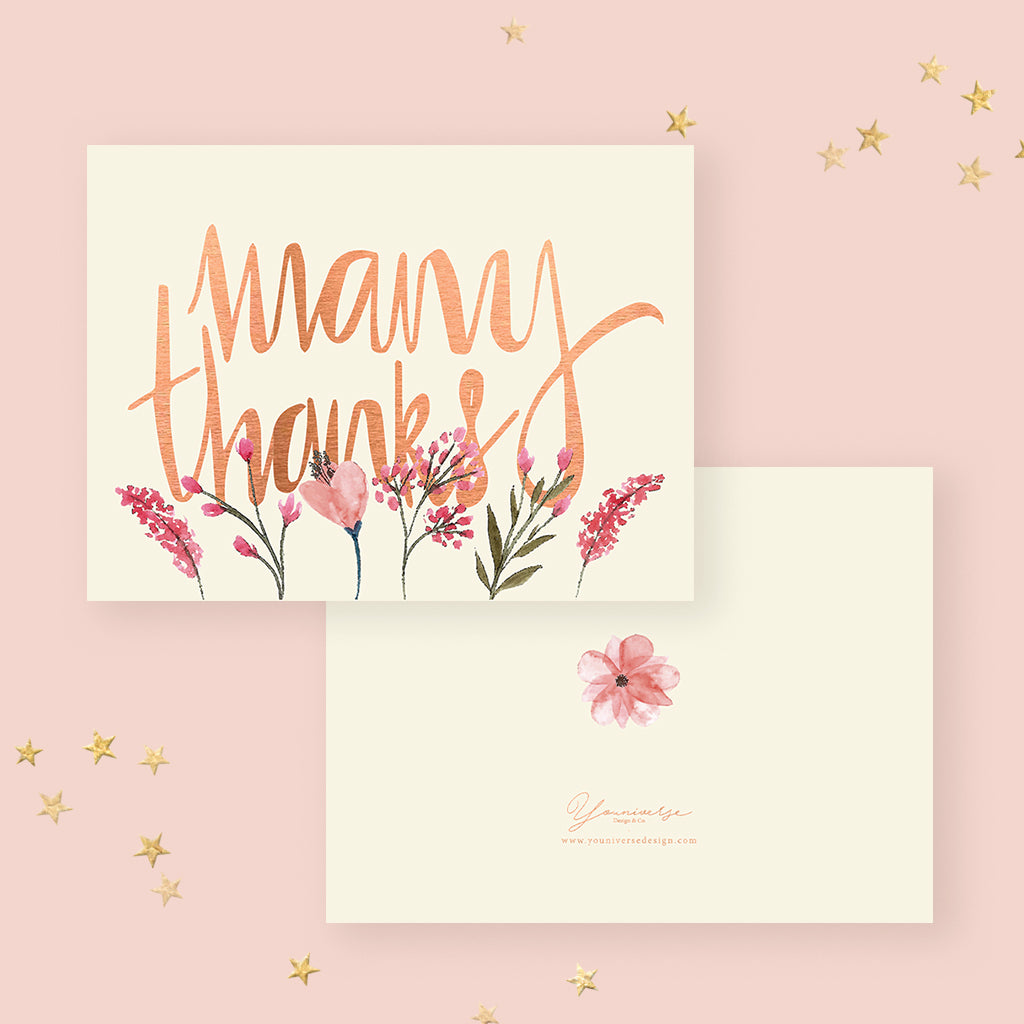 Many Thanks (Greeting Card)