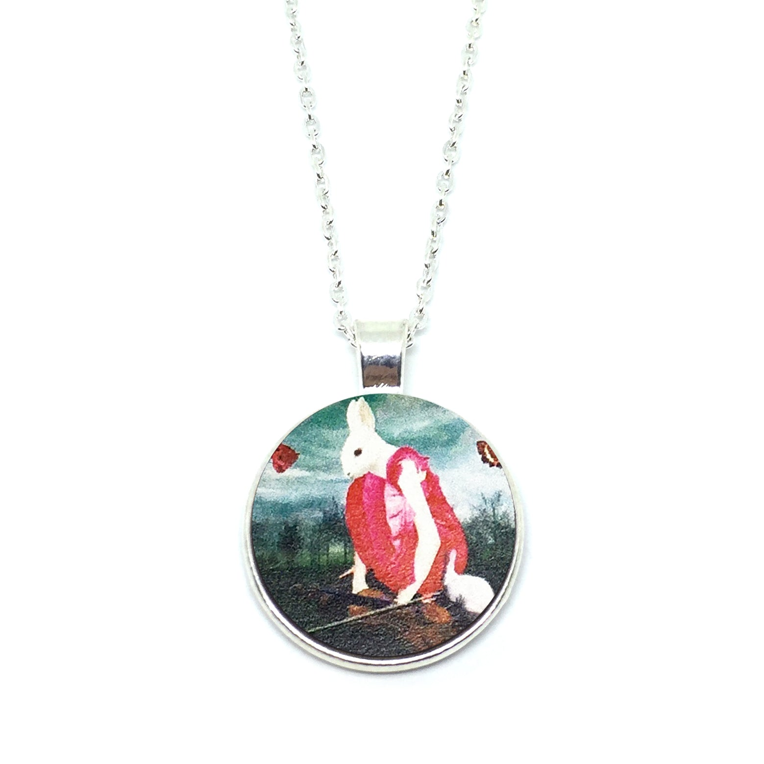 Mythical Rabbitgirl In Red Necklace