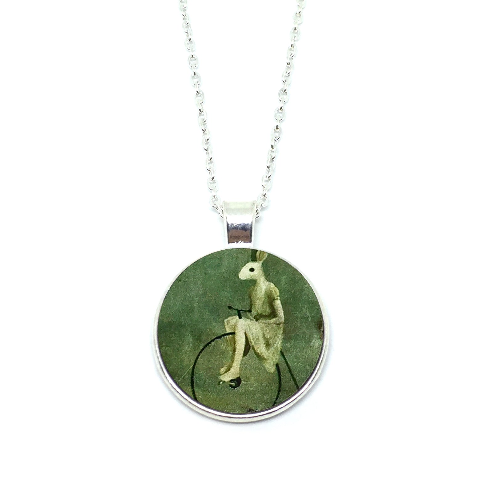 Mythical Rabbitgirl On Wheel Necklace