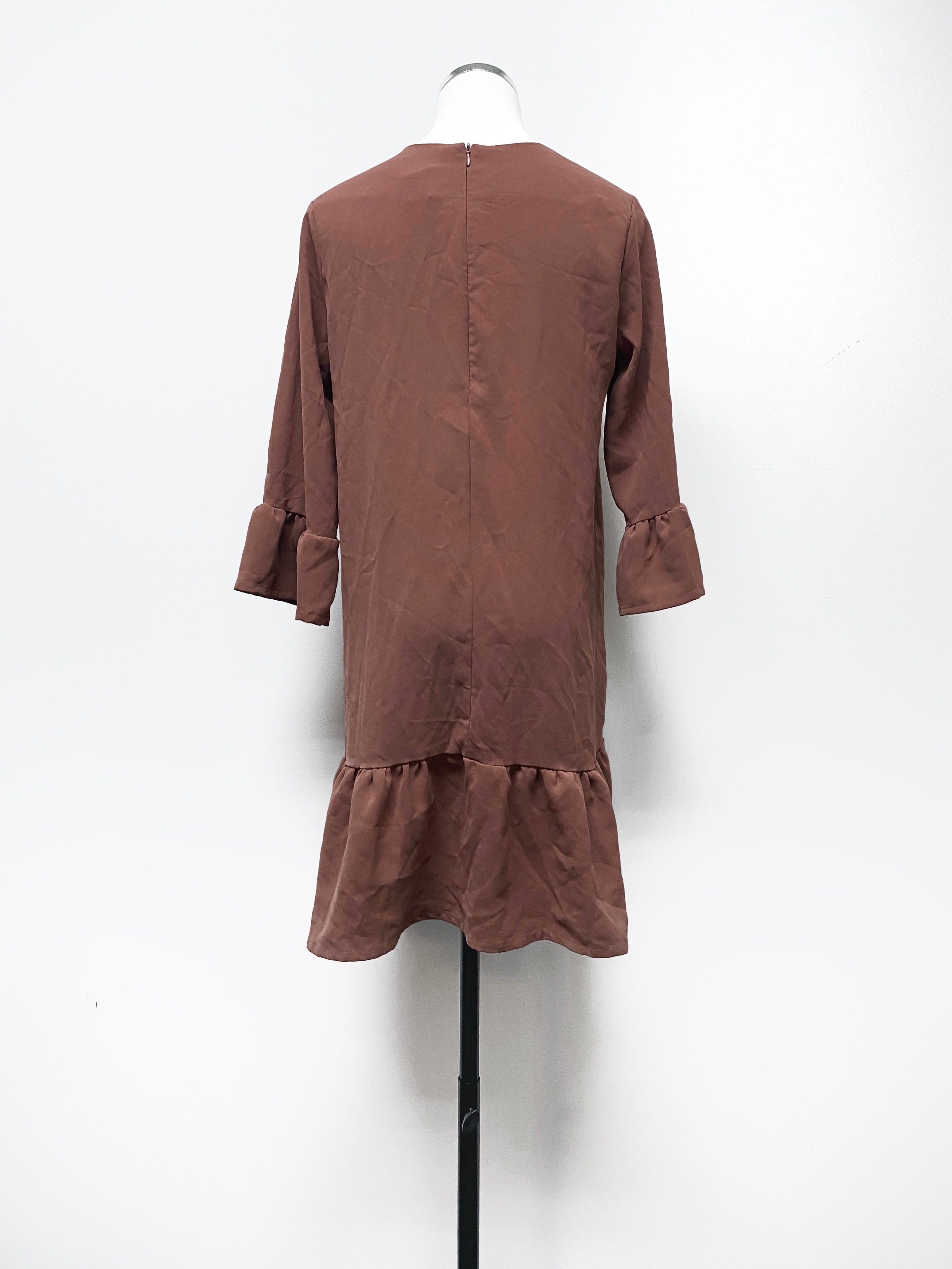 Brown Ruffle Dress