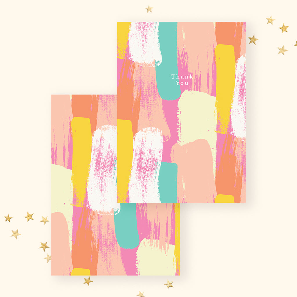 Thank You - Orange Abstract (Greeting Card)