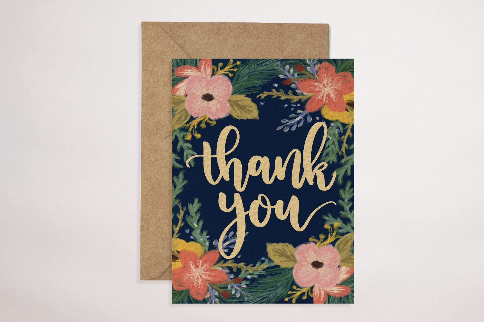 Thank You - Floral (Greeting Card)