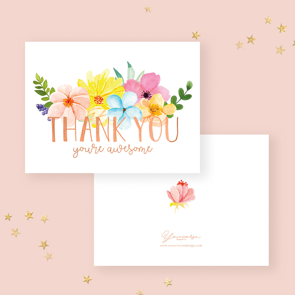 Thank you - You're Awesome (Greeting Card)