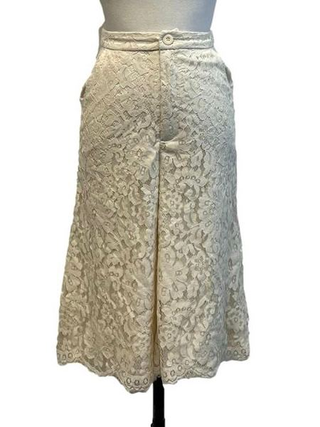 Cream Lace Midi Culottes