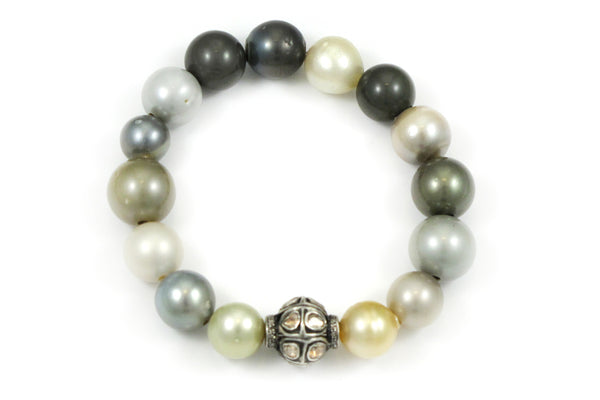 Assorted Pearls with a Polki Diamond Bead