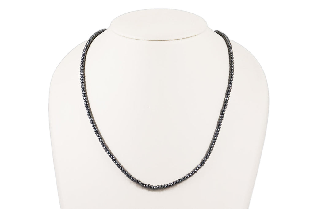 Solid Hematite Necklace - 34 inch
