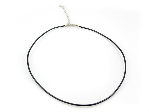 Leather Necklace - 18 inch with Chain & Lobster Clasp