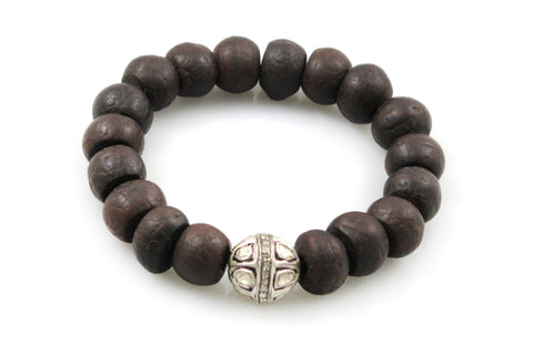 Bodhi Seeds with a Large Polki and Pave Diamond Bead