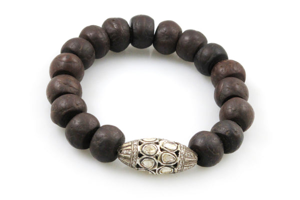 Bodhi Seeds with an Extra Large Polki and Pave Diamond Bead