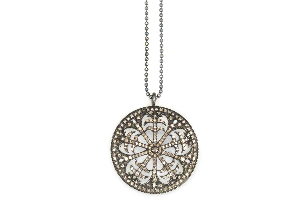 Necklace with Round Open Detailed Charm