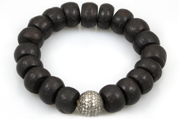 Bodhi Seeds with a Medium Pave Diamond Bead