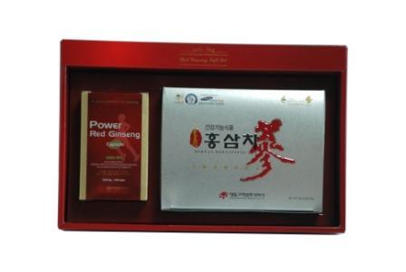 piniks.com KOREAN RED GINSENG TEA & CAPSULES GIFT SET