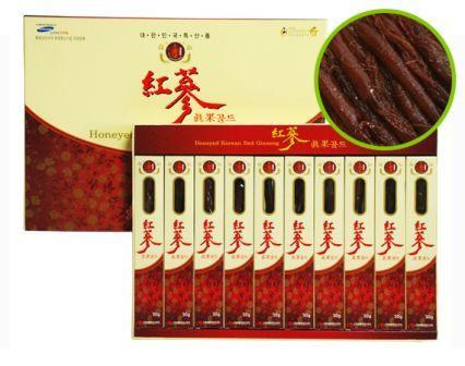 piniks.com KOREAN RED GINSENG HONEYED SLICES BY BULROGEON (30G X 10PACKS)
