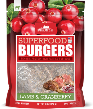 Lamb & Cranberry Dog Treat Burger