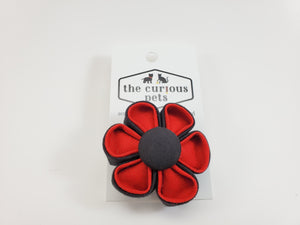 The Curious Pets Black and Red Duo Flower Bow