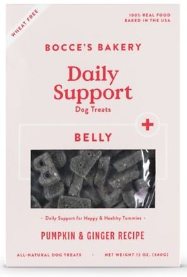Bocce's Bakery Daily Support Belly Aid Pumpkin & Ginger Recipe Dog Treats, 12-oz box
