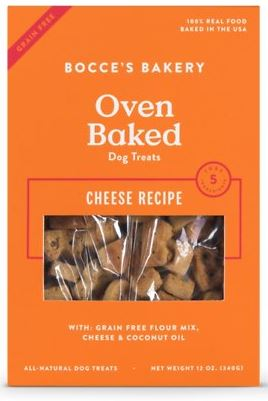 Bocce's Bakery Oven Baked Grain-Free Cheese Recipe Dog Treats, 14-oz box