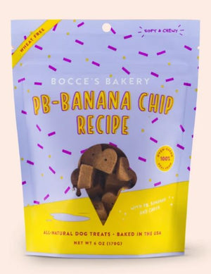 Bocce's Bakery PB-Banana Chip Recipe Soft & Chewy Dog Treats