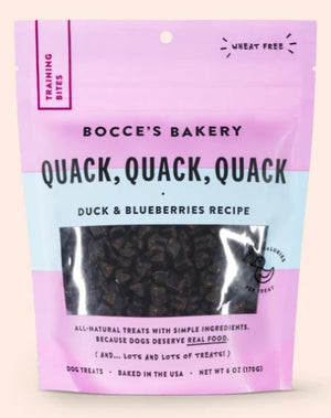 Bocce's Bakery Quack, Quack, Quack Training Bites Dog Treats