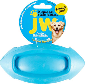 JW Pet iSqueak Football Dog Toy