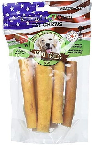 Cow tail chew for dogs