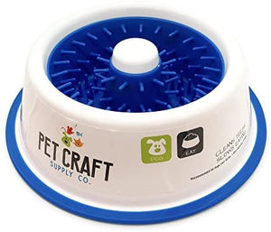 Pet Craft Teeth Cleaning Slow Feeding Dog Bowl