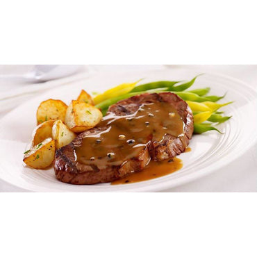 Steak au poivre verts