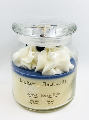 Blueberry Cheesecake Dessert Candle (Soy and Beeswax blend)