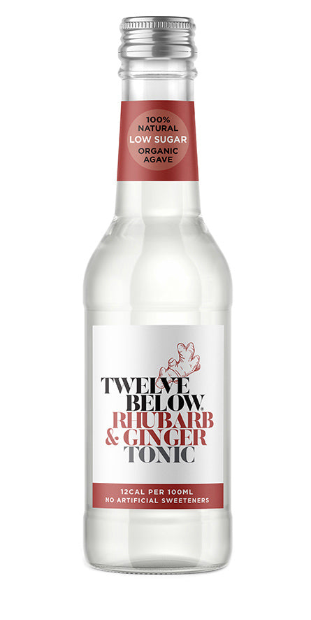 TwelveBelow Rhubarb & Ginger Tonic 12 x 500ml