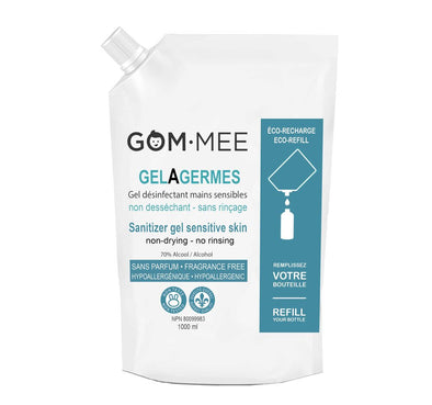 GOM MEE GEL DÉSINFECTANT MAINS SENSIBLES RECHARGE 1000 ML