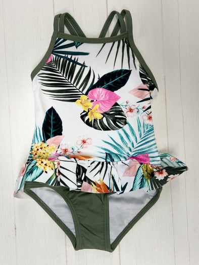 Mandarine & co Maillot olive tropical