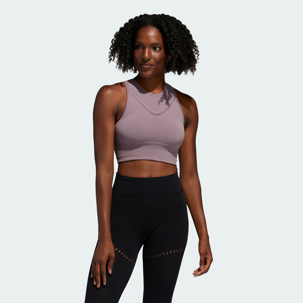 WARP KNIT CROP TOP