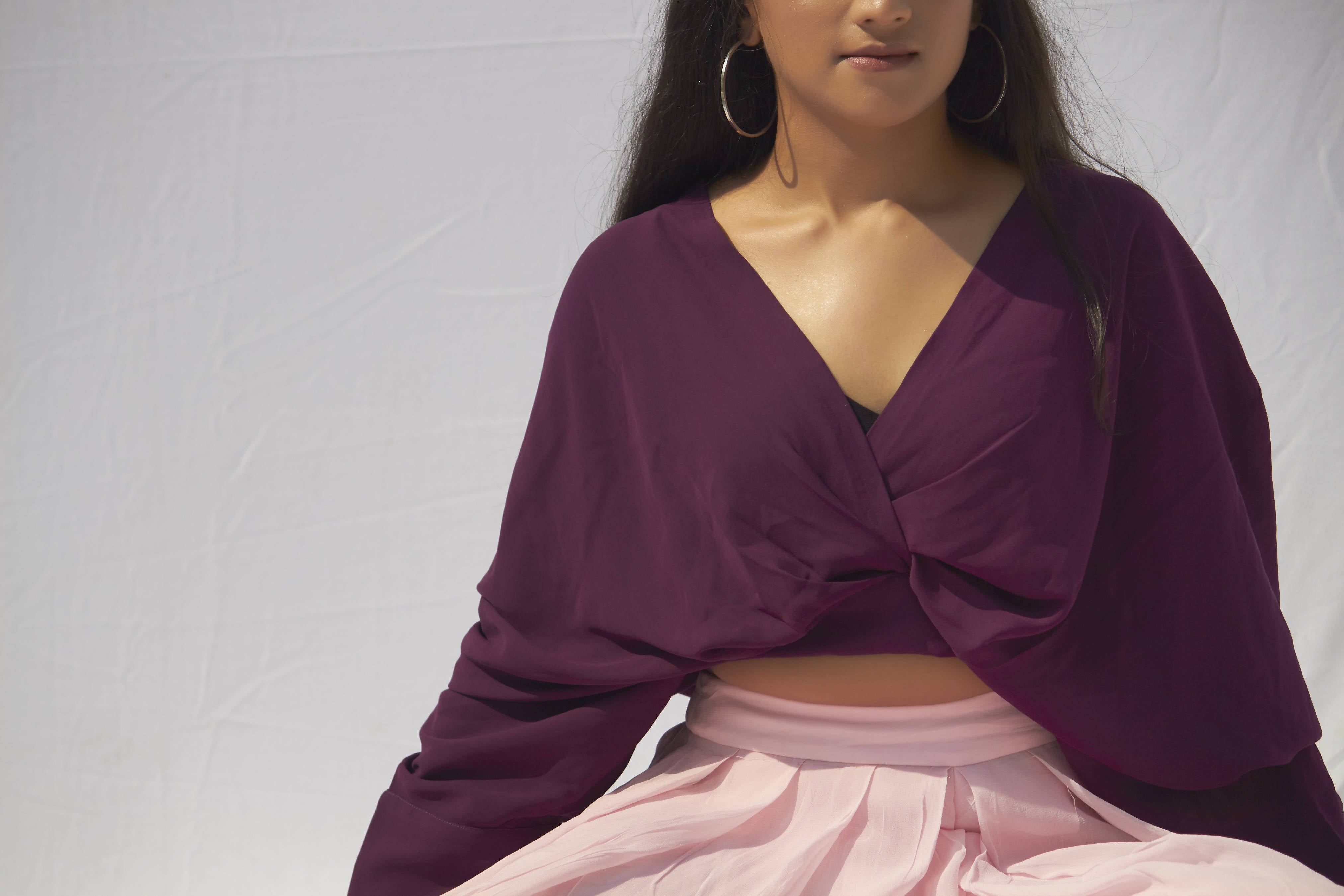 Plum Drape Top