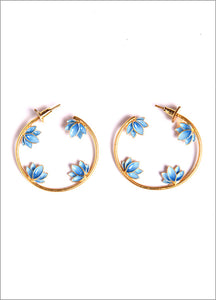Earrings Hoop Blue