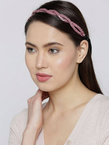 Blueberry pink stone detailing hair band