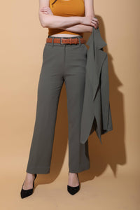 Green High Waist Pants