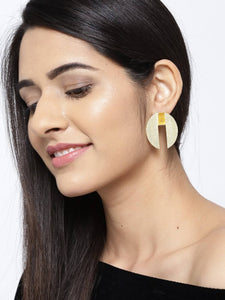 Blueberry gold plated stone detailing drop earring