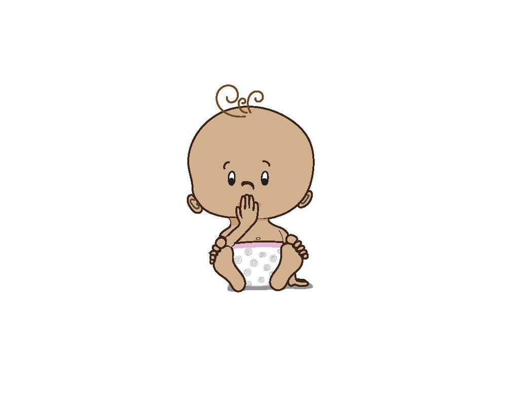 ASL Thank You Baby Shower card - brown skin