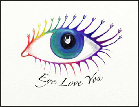 Eye Love You greeting card