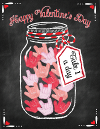 I Love You - candy jar greeting card