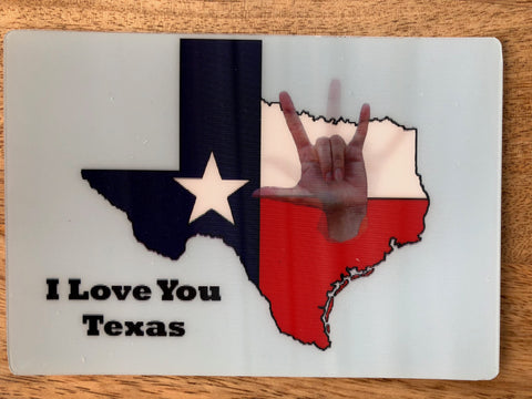 ILY Texas lenticular card