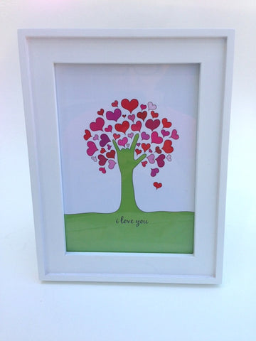 I Love You Tree print 5 x 7