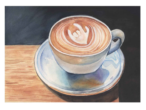 I Love You - coffee - greeting card