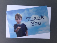 "Thank You ""boy"" - Sky background - Just the Card"