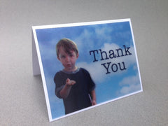 "Thank You ""boy"" greeting card - sky background"