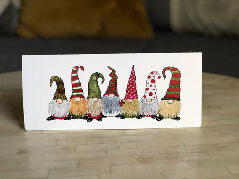 "Gnome signs ""I Love you"" in ASL Holiday Greeting Card"